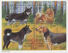 Finland 1989 Used Finnish dogs -Karelian Bear Dog Hound Spitz Reindeer Scott 794