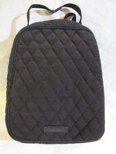 VERA BRADLEY Lunch Bag School Office Travel CLASSIC BLACK Microfiber