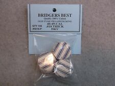 """Bridgers Best Dry Pillow Ticking Patches 40-49 Caliber .018"""" Thick Stk# 4018-P"""
