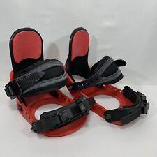 Burton Freestyle Snowboard Bindings Red Black Adjustable Size S, M, L, XL