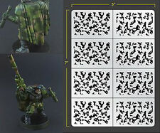 INFANTRY TRADITIONAL CAMO VINYL SELF ADHESIVE AIRBRUSH STENCIL FALLOUT HOBBIES