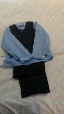 Boys blue pin stripe shirt and tie dress up 3 piece set