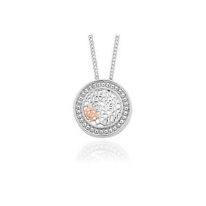 """NEW Official Welsh Clogau Silver & Rose Gold Royal Roses Pendant (22"""") £60 off!"""