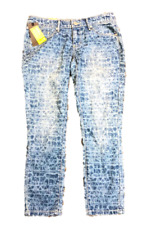 Mossimo Womens Mid Waist Straight Hip Skinny Jeans Dye Light Wash Blue 2 Fit 3