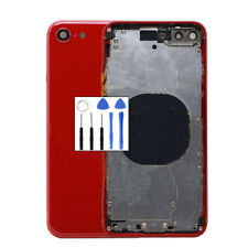 Red For iPhone 8 Back Rear Chassis Frame Motherboard Housing Battery Door +Logo