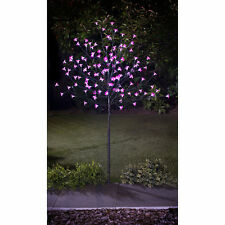 4ft 128 LED  Solar Powered Blossom Flower Tree Pink Lights