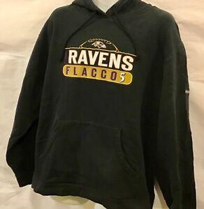 Baltimore Ravens Joe Flacco Hooded Sweat Shirt size XLarge color Black