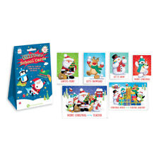 Christmas School Cards 32 Pack - Friends Teacher - Cute Snowman Santa Bear Deer
