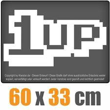 1 Up  chf0098 weiß 60 x 33 cm Heckscheibenaufkleber