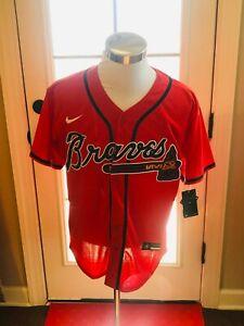 Atlanta Braves #13 Ronald Acuna Jr. Red Jersey