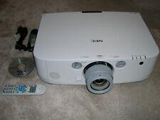 NEC NP-PA550W HDMI WXGA LCD PROJECTOR Data/Video/HD-Ready USB NEC PA 5500 LUMENS