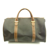 Dunhill Boston bag Grey Brown Woman Authentic Used Y4008