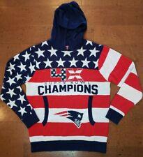 Patriots Hoodied Knit Sweater 4 X Super Bowl Champions