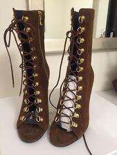 Pierre Balmain Women's Bottine Femme En Cuir Boots Eur 38 / US 8