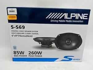 "Alpine S-S69 6x9"" Coaxial 2-way Speakers - Black -JD0875"