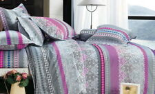 Ardor Millie Pink Grey 250TC 100% Cotton KING Size Quilt Doona Cover Set