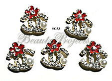 5pc Nail Art Charms 3D Nail Rhinestones Decoration Jewelry DIY Bling - C53