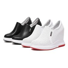 Korean Womens Platform High Wedge Heel Creeper Shoes Mesh Sneakers New Fashion