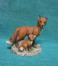 Homco Adult & Baby Red Fox Figurine #1417