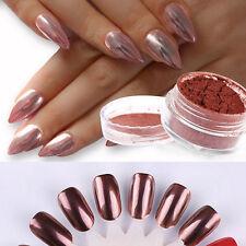2g/box MIRRORs POWDER CHROME EFFECT Pigment NAILS Rose Gold Nail Art Dust Decor
