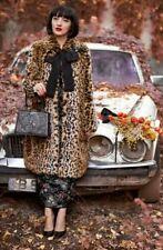ERDEM x H&M FAUX FUR LEOPARD PRINT LONG COAT SIZE 6 EEUC