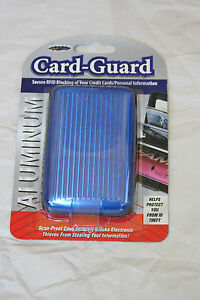 Card-Guard ID Credit Card Scan-Proof Case Wallet for Men & Women ~Blue~