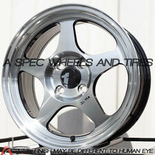 15X6.5 AVID.1 WHEELS AV-08 4X100 +35 MACHINED FACE RIM FITS NISSAN NX 2000 200SX
