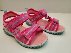 Carters Outdoor Strap Sandals Pink Blue Girls Toddler Size 10