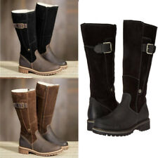 Ladies Retro Mid Calf Zip Up Boots Women Army Combat Warm Winter Shoes Plus Size