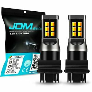JDM ASTAR 3157 3057 21-SMD White Yellow Switchback Turn Signal Lights LED Bulbs