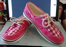 Women's Crocs Hover Boat Shoes Hot Pink / Oyster Lace-up Size 8 Mint Condition
