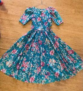 Vintage 80's Floral Laura Ashley Dress