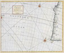 More details for 1728 a new & correct chart coast africa cape negro cape bona by knapton (lm13)