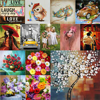 5D DIY Full Drill Diamond Painting Cross Stitch Needlework Mosaic Kit Wall Art