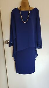 VERA MONT  BNWT 16  EMBELLISHED NAVY BLUE EVENING PARTY COCKTAIL  DRESS