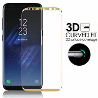 Full Curved Tempered S9 Plus Glass Samsung Screen 3D Protector Gold Edge