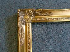 Picture Frame- Vintage Bright & Dark Gold Antique Ornate Classic-678G-     8x10