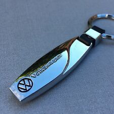 NEW VW LOGO METAL CHROME KEYCHAIN KEY-CHAIN Key Ring KC09