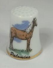 dé à coudre en porcelaine avec un cheval,palomino ,thimble  *11