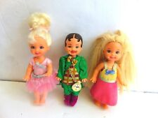 Lot of 3 Barbie Kelly Tommy MUNCHKIN Original Outfit DOLLS