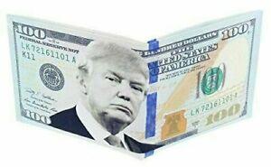 President Donald Trump One Hundred Dollar Bill Wallet $100 Foldable Bi-Fold
