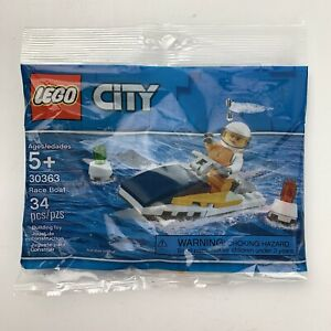 Lego City Race Boat 30363 New Sealed 34 pcs Building Block Toy