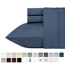 California Design Den 400 Thread Count 100% Cotton Sheet Set, Indigo Batik Queen