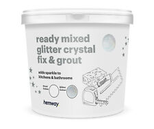 Hemway Glitzer Fuge & Fix Fertig Gemischt 4.5kg kg ( Weiß / Silber