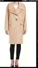 Badgley Mischka Womens Verona Wool blend Coat sz L Nude Camel NEW