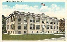 1915-1930 Printed Postcard; Cuba High School, Cuba NY Allegany County Unposted