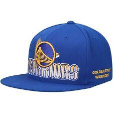 Golden State Warriors Mitchell & Ness Razor Halftone Snapback Hat - Royal