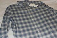 Vince Men's Blue Check Design Button-Down Casual Shirt NWT $225 Size Large