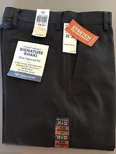 Dockers Slim Tapered Fit Flat Front Signature Khaki Pants Cloud Beige 28-33  xD