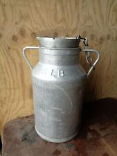 Ancien Bidon de Lait  pot aluminium ferme hugonnet dijon chalet creme savoie